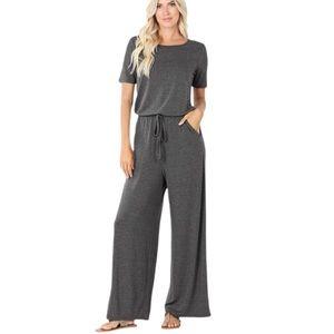 NWT Charcoal jumpsuit